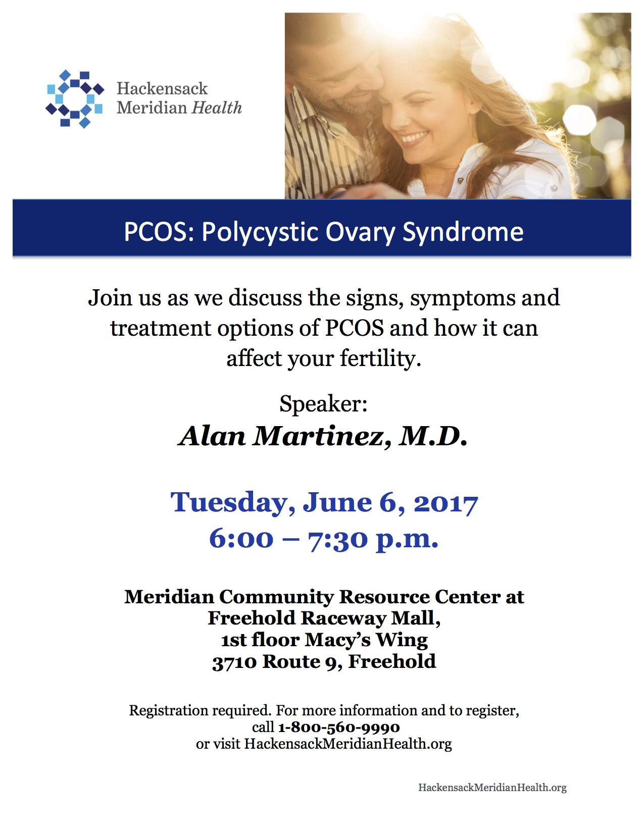 PCOS Informational Event   June 6, 2017   RSC New Jersey